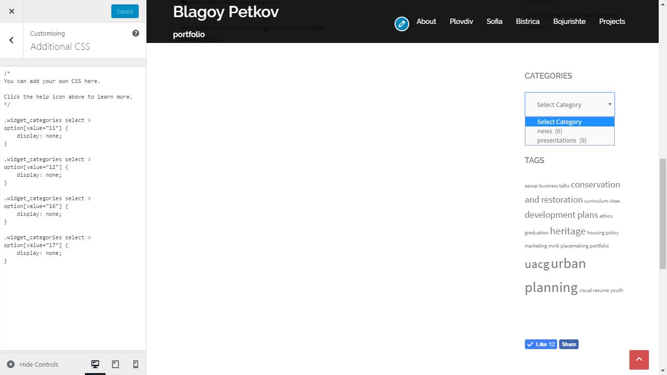Desktop Showing Custom CSS